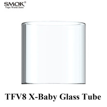 Buy Electronic Cigarette SMOK TFV8 X-Baby Glass Tube Atomizer Tube TFV8 X-Baby Tank SMOK Stick X8 Vape Pen G-PRIV 2 Kit S172 for $5.00 in AliExpress store