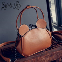Grip the ear lovely lock bag restoring ancient ways the new autumn 2016 female chain single shoulder bag(China)