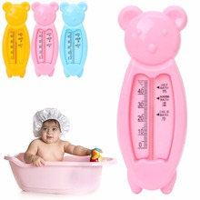 New 1Pc Baby Infant Lovely Plastic Floating Bear Bathtub Water Sensor Thermometer Tester Random Color Babe Care(China)