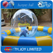 free air ship to door,2m/6.6ft giant bubble sphere aqua ball,Water walking ball,human sized hamster ball(China)