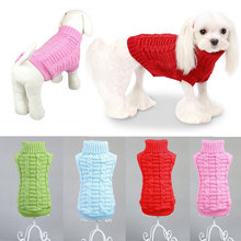 High Quality Newest Cute Pet Dog Puppy Warm Clothes Coat Apparel Jumper Sweater Cat Knitwear Costume Drop Shipping(China)