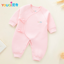 YOUQI Newborn Rompers Winter Warm Pajamas Baby Girls Clothes Boys Jumpsuit Clothing Spring Toddler Costumes Clothes For Newborns(China)