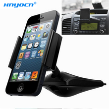 360 degree Universal Car CD Slot Dash Phone Mount Stand Holder For iPod GPS iPhone 6 Plus 5S 5 4S Samsung Galaxy S5 Note 4 EDGE(China)