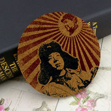 1 Piece Leifeng Serve the People  Creative Gift Souvenir 10cm Round 0.5cm Thickness Insulation Mat Hot Pad Cork Coaster