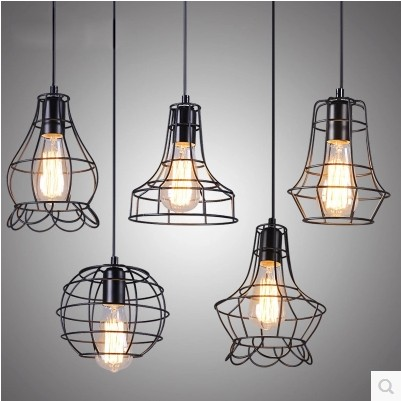 A1 simplicity of modern creative personality lighting industrial wind Iron pendant lights living room lights lamps three head<br><br>Aliexpress