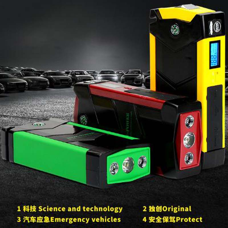 New Super Capacity 69800mAh Multi-Function 12V Car Jump Starter 4USB Power Bank Compass SOS Lights 600A Peak Car Battery Charger