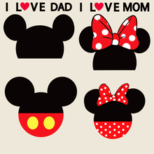 Couple Mickey heat transfer Offset heat transfer pattern DIY crafts clothing patch cloth paste decals