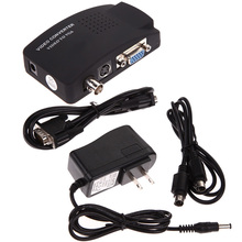 CCTV DVD DVR Camera TV BNC S-Video VGA Input to VGA Output PC Converter Adapter Image-freezing PAL/NTSC auto-detective