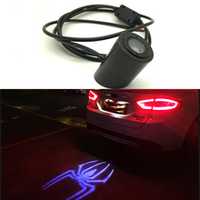 Car Laser Tail Logo Led Light Anti Collision Rear-end Fog Light Rearing Warning for Land Rover Volvo VW BMW Audi Mercedes Benz(China)