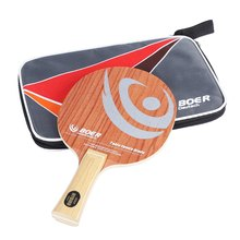 BOER High-end Table Tennis Racket Ping Pong Racket Table Tennis Paddle Bat  Pure Wood Bottom with Rosewood Base