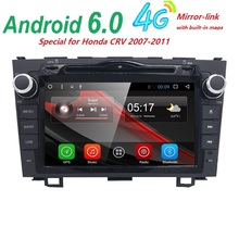 HD Quad Core  1.6GHz 1024X600 Android 6.0 Car DVD Player Radio For Honda CRV 2006-2011 3GWIFI GPS Navigation USB VIDEO SWC BT