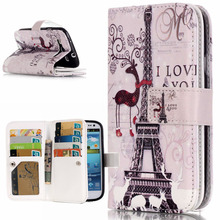 3D Relief Flower Flip Case For Samsung Galaxy S3 Case Leather Wallet Silicone Phone Case Samsung Galaxy S3 Cover i9300 Neo Duos(China)
