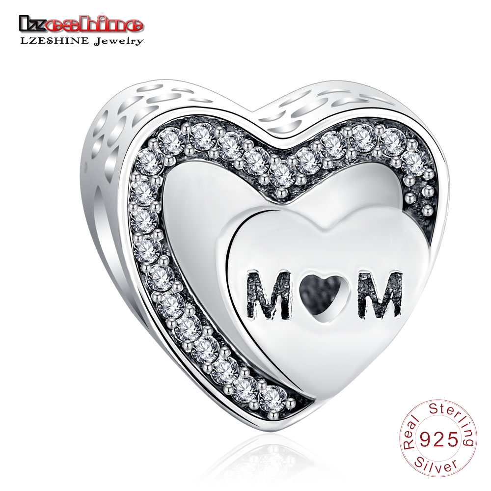 Lzeshine 925 Sterling Silver Engraved Tribute To Mom Charms Fit Pandora Charm  Bracelet Jewelry For Women
