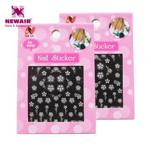 Nail Art Decals Decoration 12 Sheet Christmas Snowflakes Design Beautiful 3D DIY Nail Stickers Wholesale Free Shipping