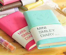 Leather Candy Color Paper Notepad A7 Sketch 6 Colors Graffiti Notebook Smiling Face Small Drawing Painting Pocket Book   DD428