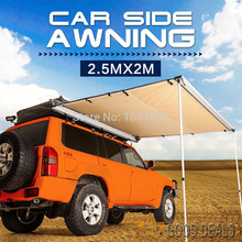 DANCHEL Car Tent 1.5x2 2x2 2x2.5m 2.5x2m toldo 4WD car Roof tent awning roof up 420D awning sun shade awning side tent