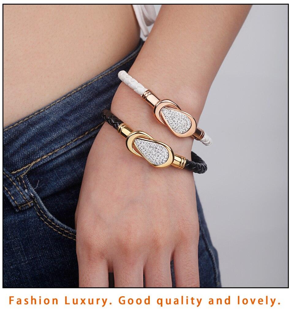 Women Leather Bracelet PU (8)-2