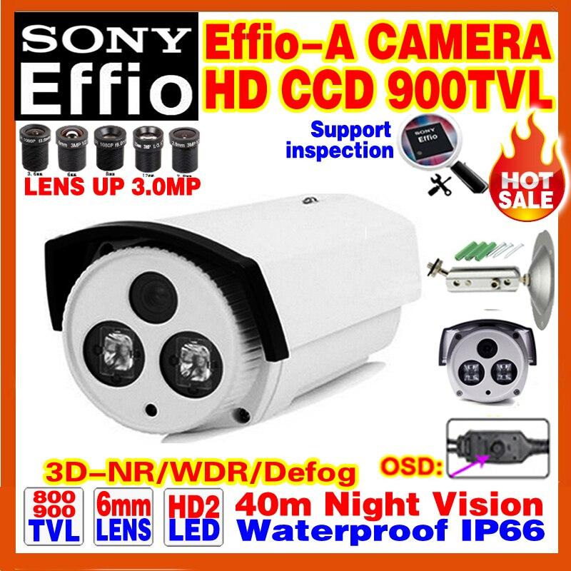 Discount Hd Sony CCD Effio Surveillance Camera 800/900TVL Analog 960 Outdoor Waterproof IP66 Infrared Night Vision Video Bracket<br><br>Aliexpress