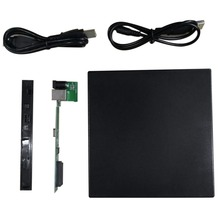 Portable Slim USB 2.0 DVD CD DVD-Rom SATA External Case for Laptop Notebook