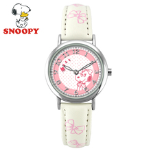 2017 Snoopy Kids Watch Children Watch Casual Fashion Cute Quartz Wristwatches Girls Water Resistant Leather Watchband clock