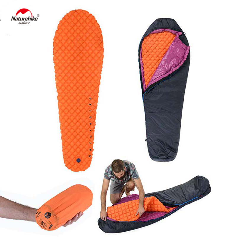 Naturehike Sleeping Bag TPU Inflatable Mattress 1 Persom Ultralight Portable Sleeping Pad Hiking Camping cushion lazy bags<br>