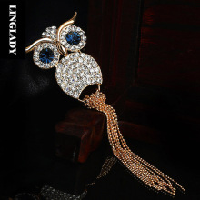 LINGLADY Punk wind restoring ancient ways the owl brooch brooches pins cardigan buckle bag mail couples men and women
