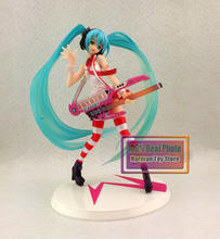 20CM Japanese anime Vocaloid Hatsune Miku With Electric Guitar Greatest Idol Ver. 1/8 PVC Action Figure Collectible Model Toy