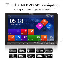 "Touch Screen Car DVD Player RDS USB Stereo Radio Navigator In Deck Capacitive Music Receiver 8GB GPS Map 7"" Sub System"