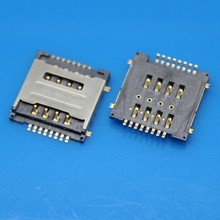 20pcs/lot Dual SIM 8P card reader double SIM Memory card adapter/connector for HUWWEI Y320 G7300 T00 Y325
