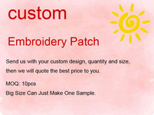 2017 Custom Design Embroidery Patch Any Size Any Logo Free Shipping Quote(China)
