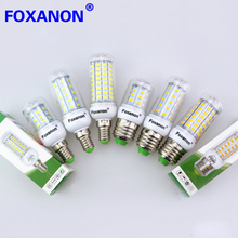 Foxanon Led Light E27 / E14 220V Smart IC Power 5730 Corn Bulb 36 48 56 69 72 81 89Leds Lamp lampada led bombillas Lighting