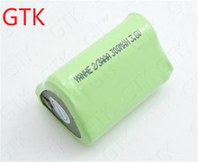 Promotion! 10pcs Brand 3.6V ni mh 2/3 AAA 300mAh NI-MH battery pack 3.6V bateria for electric police stick electric baton(China)