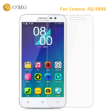 OMG 9H Tempered Glass Film for Lenovo A8 A806  0.3mm HD Vision Transparent Screen Protector