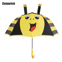 Lovely Little Bee Cartoon Patterns Umbrellas Kids Children Paraguas Parasol Lovely Boys Girls Umbrellla Umbrella-019(China)