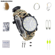 Multi-functional Waterproof Shock Mountaineering Electronic Table Tools Fishing Suit Watches Tools Accessories with Bait Hook(China)