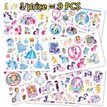 Buy SHNAPIGN 9 pcs/lot Pony Princess Temporary Body Arts, Flash Tattoo Stickers 17*10cm, Waterproof Children Loves Toy Tatoo for $6.66 in AliExpress store