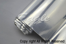 Unstretchable Silver Chrome Mirror Finish Sign Vinyl Film Wrapping Roll For Car 1.52*30m Free Shipping TM1701