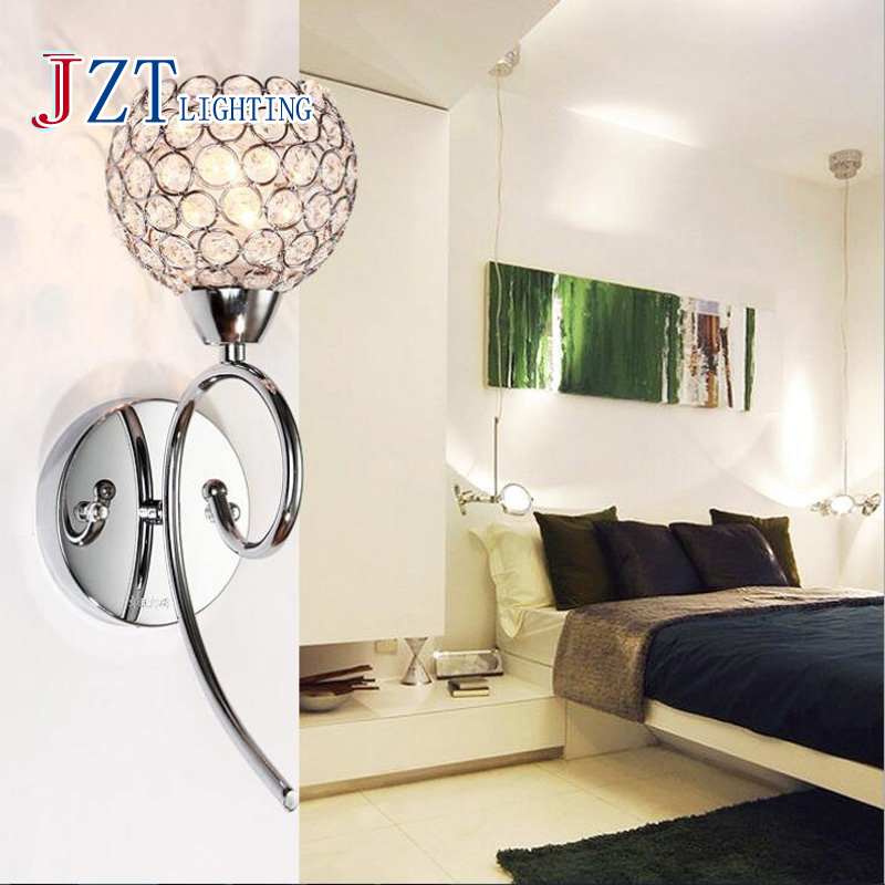 Z Modern Crystal Hardware Wall Lamp Bedroom E14 Silver / Gold Wall Fitting Livingroom Lamp Sanitary Ware Aisle LED Lights<br>