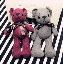 19cm Cute Bear Stuffed & Plush Bear Bag ornaments Stuffed Animals Teddy Bear Small Pendant Cute Plush Toys As a holiday gift