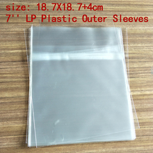 "NEW 25PCS 7"" LP Record Vinyl Plastic Protect Bag Resealable Outer Sleeves 18.7*18.7+4cm"