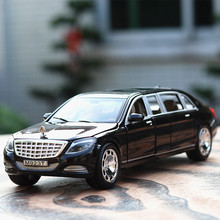 NEW 1:24 Scale Collectible Diecast Maybach Models Alloy Car Metal Toys For Children Gift High Simulation 6 Open Doors HL0296