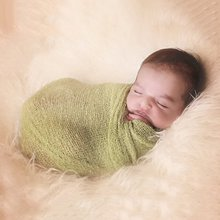 40*150cm Baby Stretch Knit Wrap Newborn Photography Props Kids Baby Nubble Rayon Wraps Maternity Scarf Hammock Women Shawl