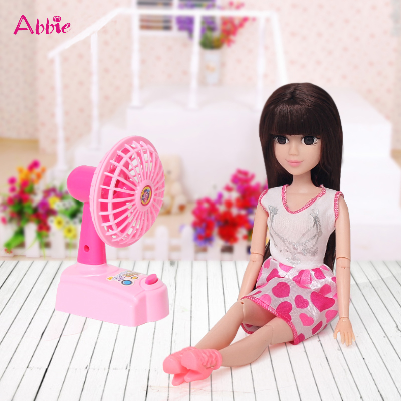 ABBIE Doll Electric Fan Toy Girls Fashion With ABBIE Toy Play Set Include Shoes Clothes Set Toy Educational Doll Girl's New Gift(China (Mainland))