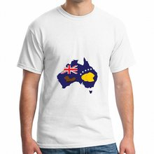 Fashion Creative T-shirt Casual Novelty Funny Tshirt Style Print Tee 2017 Funny Cool Booting Flag Australia