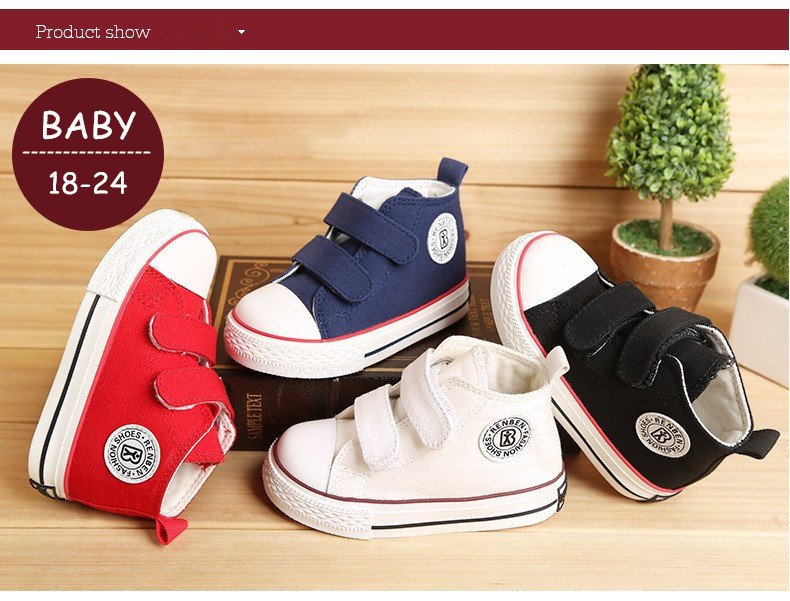 Baby shoes Girl Children Canvas shoes Boys 17 Spring Autumn Fashion High Cotton-made Baby girl little kids shoes 14