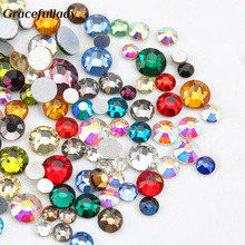 Mix Size Mix Color 10g/pack Nail Rhinestones Crystal Glass Flatback Rhinestones For Nails Art 3D Charm Decoration(China)
