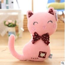 about 30cm cartoon love pink cat plush toy soft doll birthday gift b0849(China)