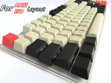 Cool Jazz Black Light Gray mixed Dolch Thick PBT ANSI ISO layout 104 87 61 Keycap OEM Profile Key cap For MX Mechanical Keyboard