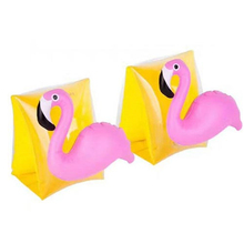 1Pair Crab Flamingo Swimming Arm Ring Inflatable Arm Bands Floatation Sleeves Water Wings Swimming Arm Floats for Children