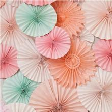 Tissue Paper Fan Personalized Wedding Favors And Gifts Event & Party Supplies  Free Shipping 10pcs/Lot 20cm Artificial  Fans